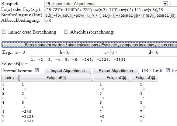 Folgen (Mathematik), explizite, rekursive Formeln