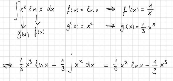 partielle integration bestimmen von f x und g x frage mathe integral. Black Bedroom Furniture Sets. Home Design Ideas