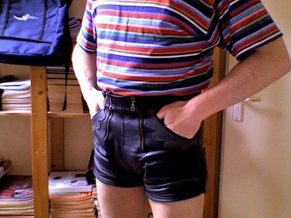 Meine kurze lederhose - (Mode, lederhose)