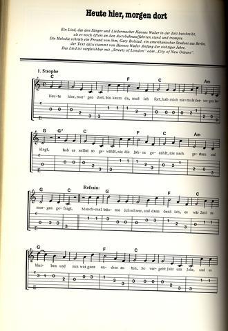 Klaviernoten zu \