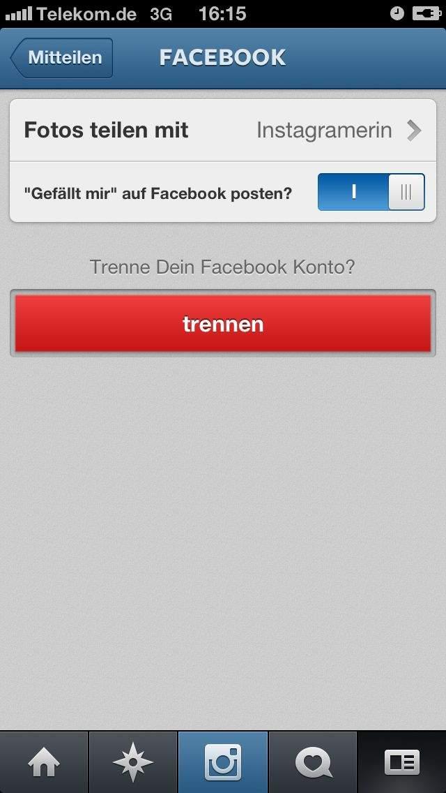 instagram mit facebook FANSEITE verbinden - nicht mit dem