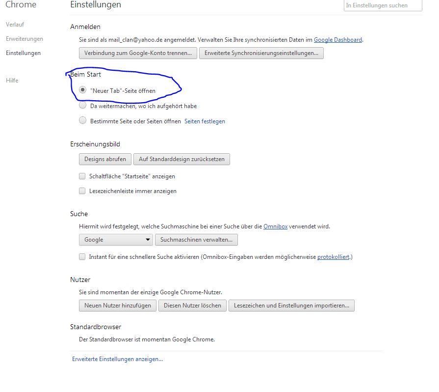 Google Chrome Г¶ffnet Keine Seiten Mehr