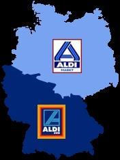Aldi Nord Süd Karte.Verlauf Der Grenze Zwischen Aldi Süd Und Aldi Nord