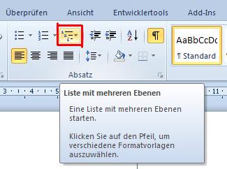 Bild 1 - (Windows, Word, inhaltsverzeichnis)