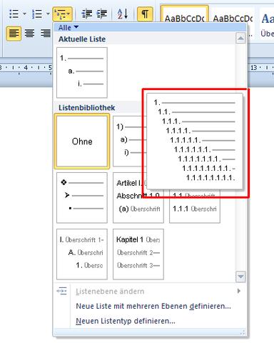 Bild 2 - (Windows, Word, inhaltsverzeichnis)