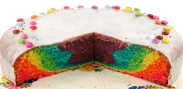 Regenbogenkuchen - (Rezept, backen, Kuchen)
