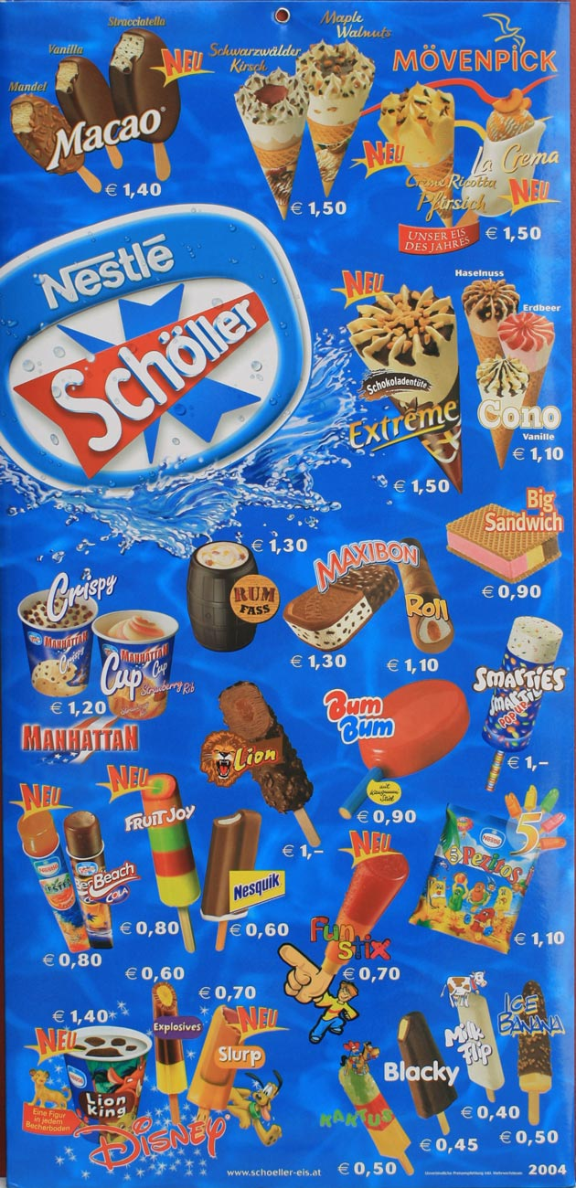 Schöller Eis 80er