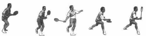 Badminton Unterhand Clear