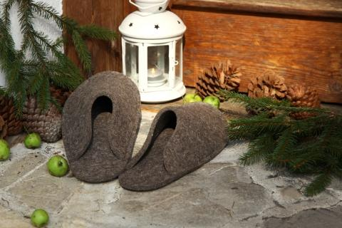 Filzpantoffeln - (Geschenk, Weihnachten, Marketing)