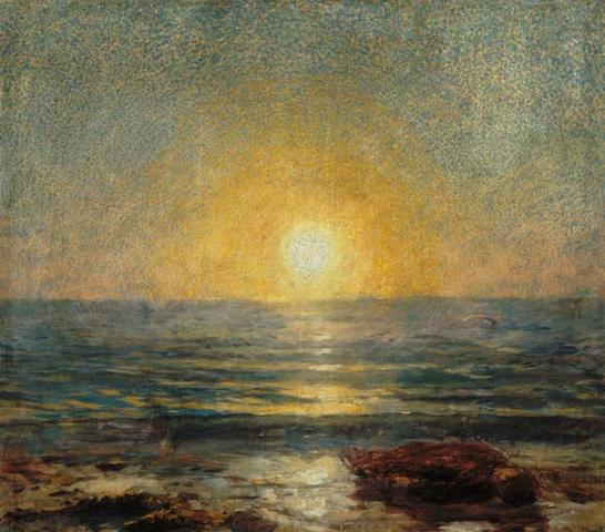 Sonnenuntergang am Meer,  von Ludwig de Laveaux - (Foto, Kunst, malen)