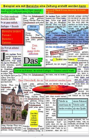 Zeitung erstellt mit OpenOffice und Libre Office - (Word, Zeitung, Format)