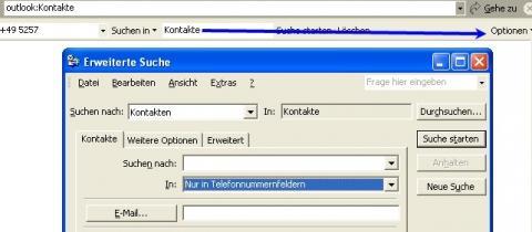 - (Outlook, Telefonnummer, Office 2002)