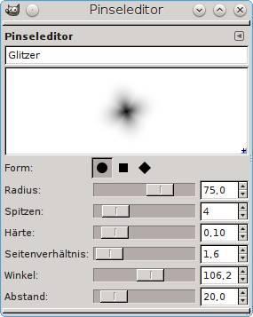Pinseleditor - Glitzer - (Ebay, Bildbearbeitung, Effekte)