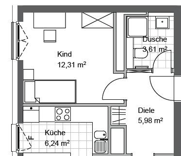 legende grundriss wohnung neubau. Black Bedroom Furniture Sets. Home Design Ideas