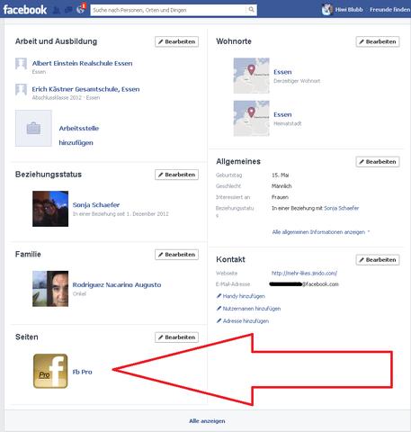 Seite öffentlich in Profiel Anzeigen lassen - (Facebook, Facebook-Seite, facebook profil)