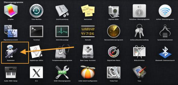 automator - (Mac, Programmierung, OS X)