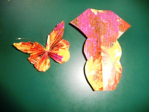 Muster für Schmetterlinge - (Gedicht, basteln, Zitat)