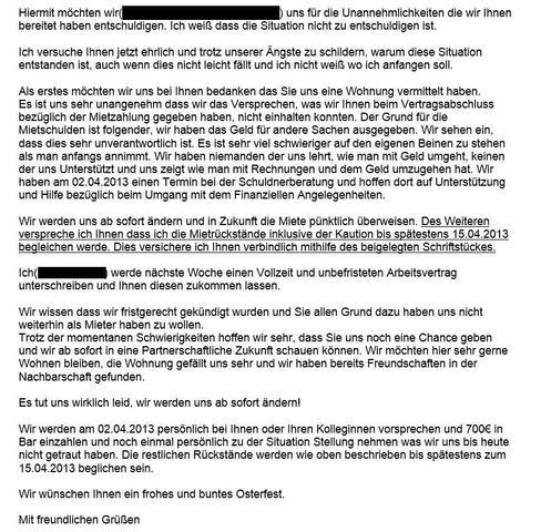 Freundin vorlage entschuldigungsbrief Eine Entschuldigungsbrief