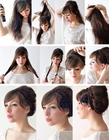 hochsteckfrisur - (Haare, Frisur, Styling)