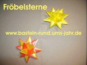 Fröbelstern von www.basteln-rund-ums-jahr.de - (Freizeit, Kinder, Christentum)