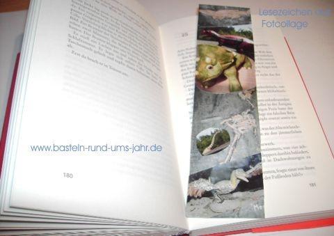 Leszeichen aus Fotocollage von www.basteln-rund-ums-jahr.de - (Freizeit, Kinder, Christentum)