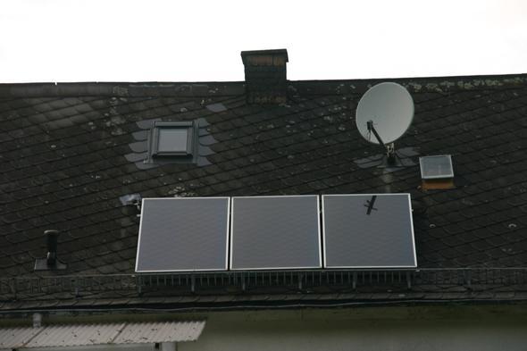 3 Solarkollektoren = ca. 7m²  - (Elektrik, elektro, schuetzen)