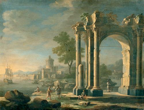 Giovanni Pannini (1691 - 1765) Süditalienische Meeresbucht - (Tipps, Kunst, Unterricht)