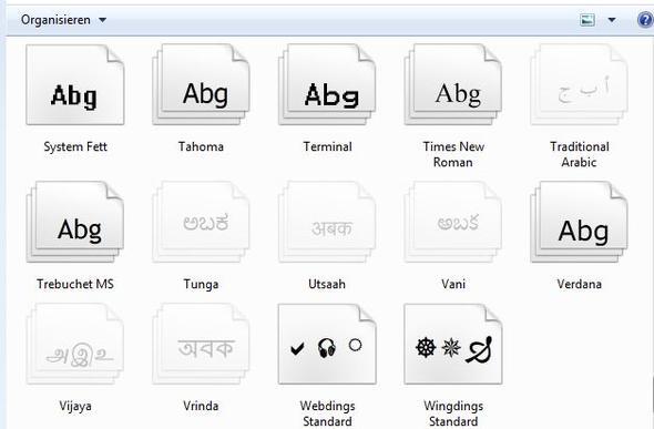 Schriftarten - (PC, Windows 7, Photoshop)