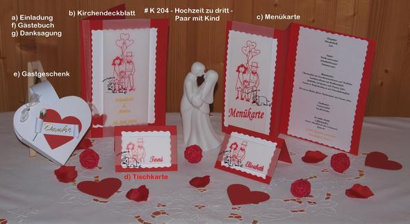 Hochzeit Zu Dritt   (Hochzeit, Taufe, Motiv)