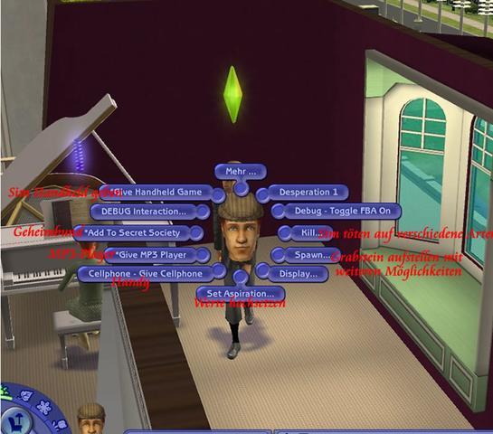 So sieht das fenster aus. - (Sims 2, Vampire)