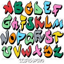 Graffity Buchstaben - (Kunst, Graffiti)