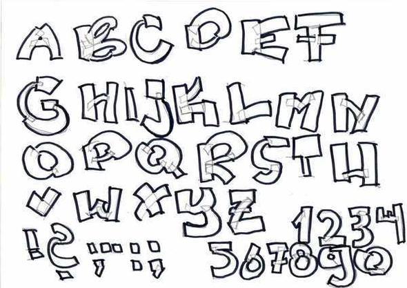 Graffiti Schrift - (Kunst, Graffiti)
