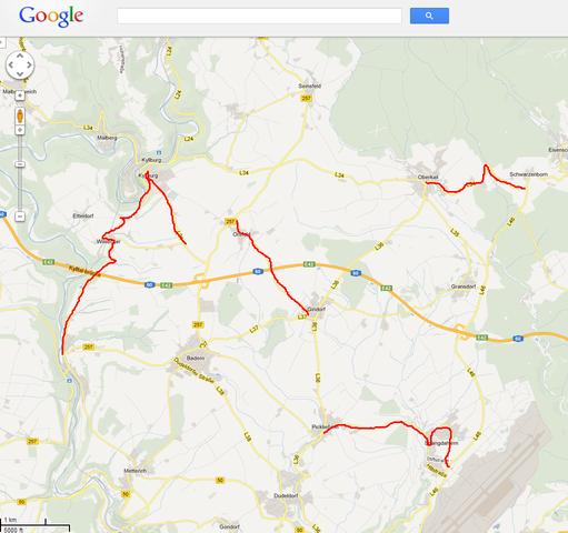 Karte mit schon befahrenen Strecken markieren (Auto, online, Karten)