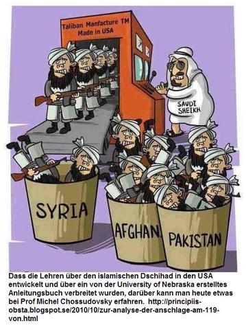 islamischen Dschihad in den USA entwickelt USmade Taliban factory and Saudis - (Geschichte, Europa)