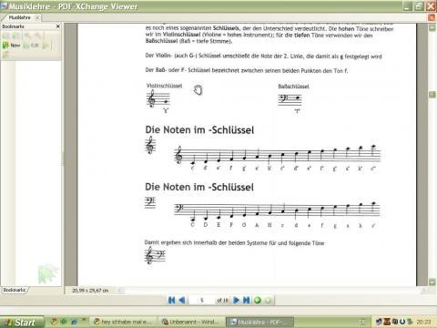 Notenschlüssel - (Noten, Klavier, Notenschlüssel)