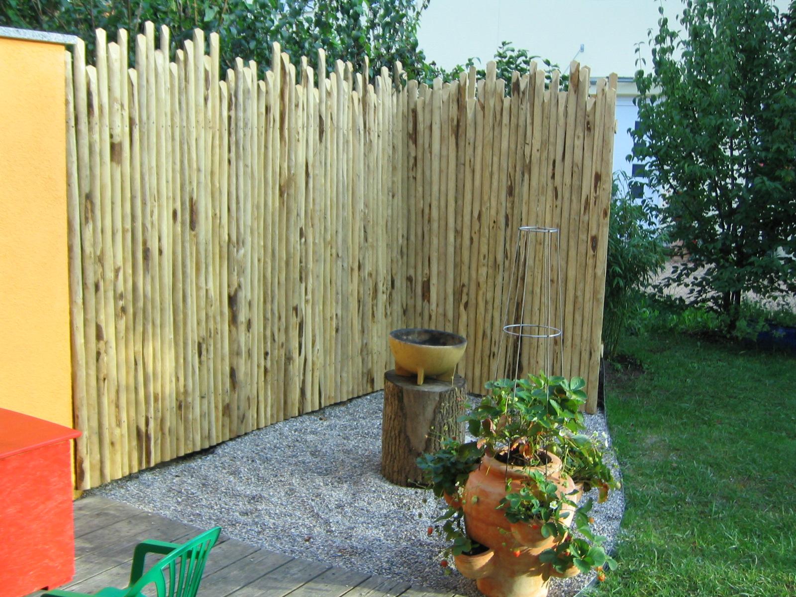 Garten Sichtschutz Selber Machen Rustikal With Garten Sichtschutz