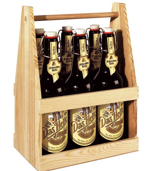 bierkasten mit gummigriff trinken bier. Black Bedroom Furniture Sets. Home Design Ideas