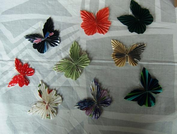 Schmetterlinge - (basteln, sauber-machen, Äste)