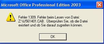 Die Fehlermeldung - (PC, Fehler, excel 2003)