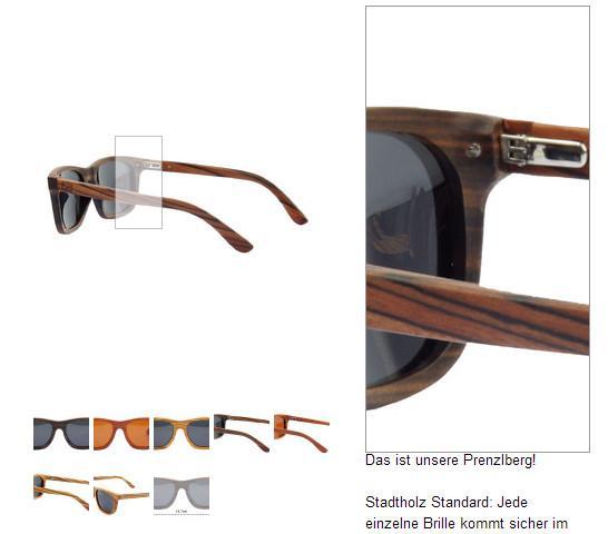 Sonnenbrille aus Holz Modell Prenzlberg von stadtholz - (Brille, Holzbrille, Shwood)
