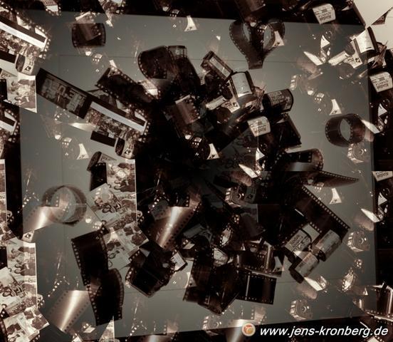 Kunstobjekt Negativfilmstreifen - (Film, Bilder, Foto)
