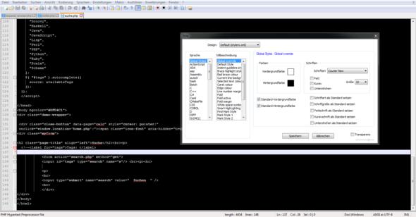 Notepad++ Stile - (Computer, Internet, programmieren)