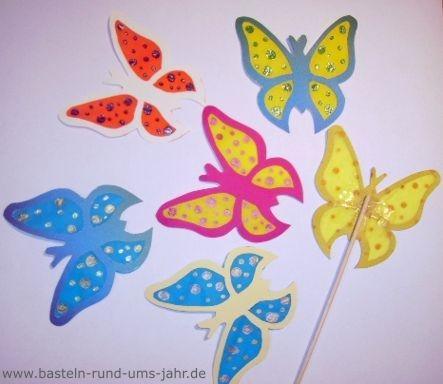 Schmetterlinge von www.basteln-rund-ums-jahr.de - (basteln)