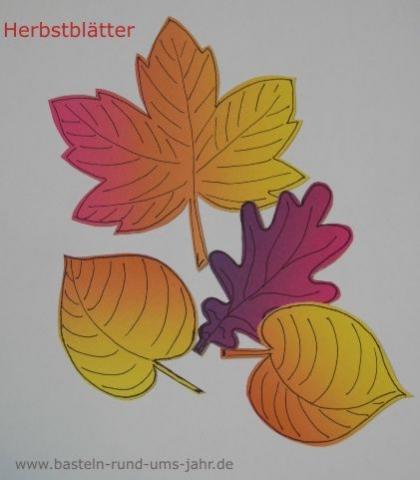 Herbstblätter aus Filz von www.basteln-rund-ums-jahr.de - (basteln)