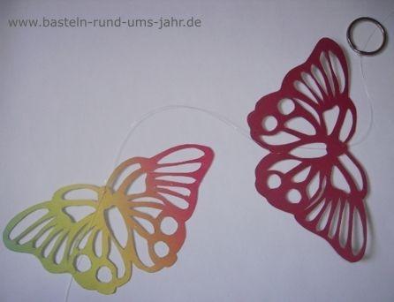 Schmetterlinge als Fensterdeko von www.basteln-rund-ums-jahr.de - (basteln)