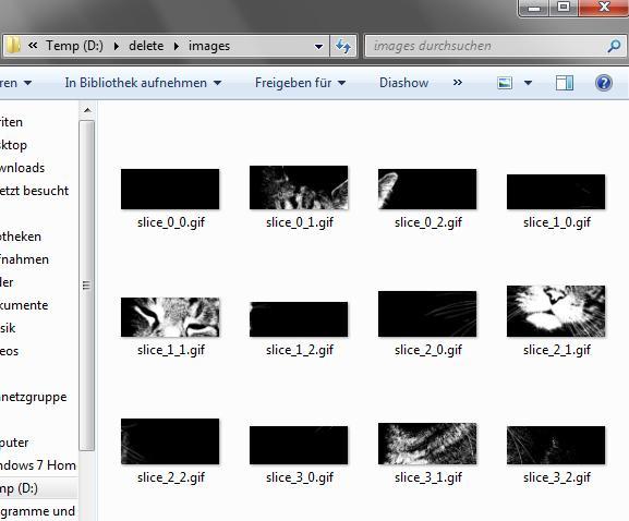 Zerteiltes Bild durch Gimp - (Computer, PC, Bilder)