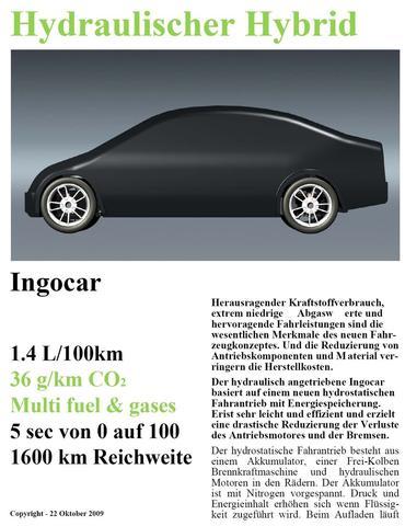 1,5 Liter Auto mit Stelzer Motor (Freikolben) und Hydraulikantrieb 5s 0 auf 100! - (Computer, Auto, Motor)
