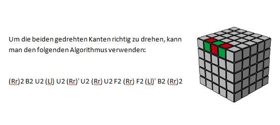 Parity Kanten in sich gedreht 5x5, 7x7 usw. - (Zauberwürfel, v-cube)