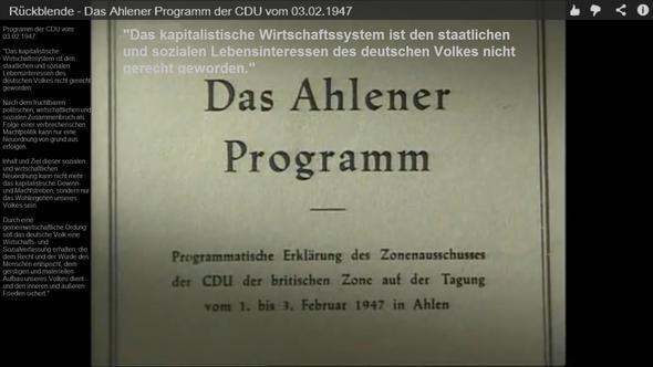 Das AhlenerProgramm der CDU vomFeb.1947 - (Politik, Geschichte, Deutschland)