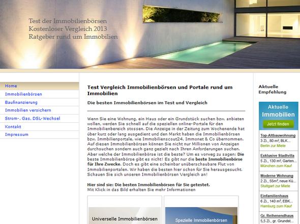 Test der Immobilienbörsen - (Internet, Wohnung, Wohnungssuche)